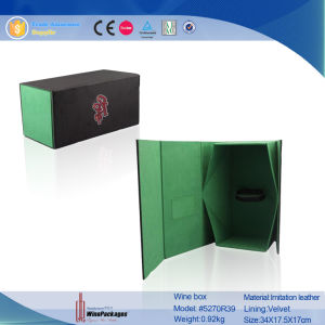 Classic Foldable Flexible Wine Box (5270R25) pictures & photos