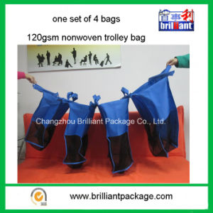 120GSM Nonwoven Supermarket Shopping Trolley Bag pictures & photos