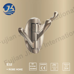 Hot Sell 304 Solid Casting Stainless Steel Bathroom Robe Hanger (E32)