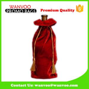 Promotional Drawstring Pouch Velvet Wine Bottle Gift Bag pictures & photos