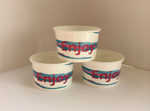 12oz Paper Ice Cream Bowl with Lid Custom Printed Double Wall Paper Cups with Great Price pictures & photos