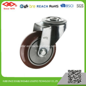 80mm Swivel Plate Red PU Industrial Caster (P103-36EC080X32) pictures & photos