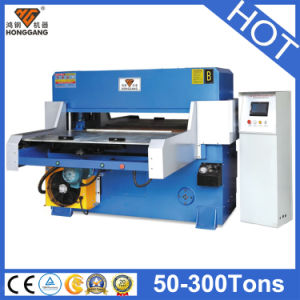Hg-B100t Hydraulic Both Feeding PLC Automatic PVC Cutting Machine pictures & photos