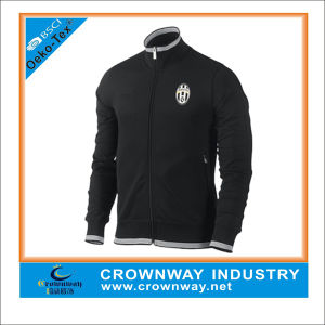 Men′s Zip up Soccer Jacket with Custom Logo Embroidery pictures & photos