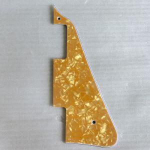 3ply Gold Pearloid Lp Pickguard for Les Paul Guitar pictures & photos
