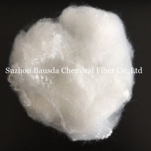 Suzhou Bausda Pet Bottles Regenerated Polyester Staple Fiber PSF in White Color pictures & photos