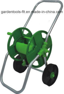 Plastic & Aluminium Two Wheels Deluxe Portable Garden Hose Reel Cart
