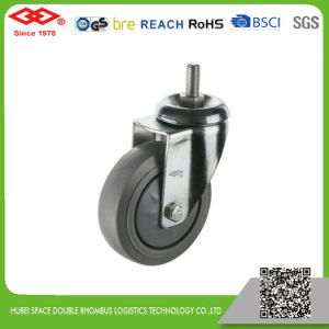 100mm Swivel Screw in Rubber Caster (L120-34FK100X32) pictures & photos
