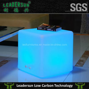 LED Rattan Hotel Outdoor Chair Lighting Furniture Cube (Ldx-C06)