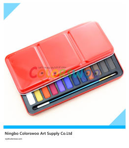 24 Colors Water Color Cake in Iron Box for Painting and Drawing pictures & photos