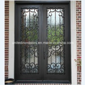 Square Top Double Iron Entry Door (UID-D018) pictures & photos