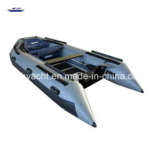 4.3m 9 Person Floding Fully Thermal Welded Tube Inflatable Boat with Plywood Floor pictures & photos