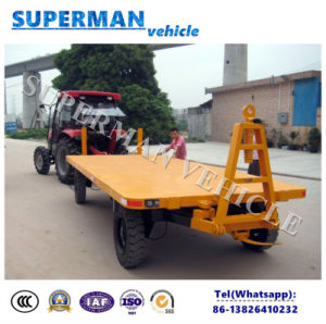 4t Flatbed Cargo Transport Industrial Drawbar Full Pulling Trailer pictures & photos