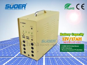 Suoer Solar Power System 12V 17ah Solar Power Generator for Home Use Solar Power Supply with Factory Price (ST-C01) pictures & photos