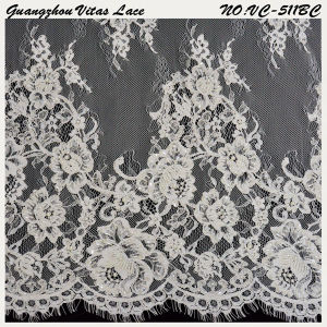 Floral Rayon& Polyester French Lace Trim Vc-511bc
