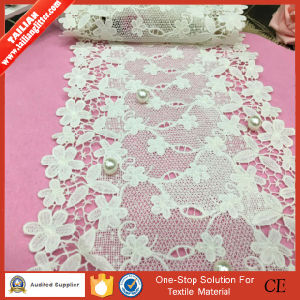 2016tailian Polyester Floral Tricot Knitted Lace Apparel Fabric pictures & photos