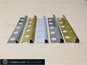 Aluminum Round Corner Tile Trim Anodised Silver and Gold pictures & photos