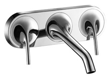 Mirrored Polishing Stainless Steel Basin Faucet