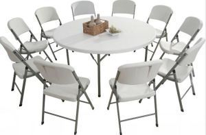 High Quality Plastic Round Folding Table pictures & photos