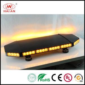 LED Emergency Light Bar Flash Mini Flat Light Amber Truck LED Warning Lightbar/Black Aluminum Metal Base LED Lights Bar pictures & photos