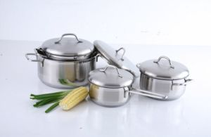 8PCS Stainless Steel Cookware Set with Ss Cover pictures & photos