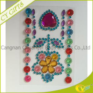 Blingbling Flower Acrylic Gem Crystal Sticker/Self Adhesive Sheet for Furniture