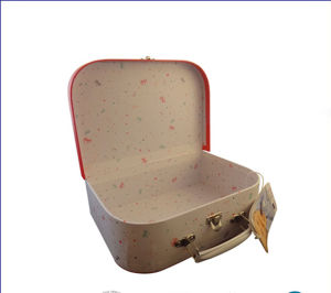 Eco Kraft Paper Suitcase Shape Gift Box with Custom Printing pictures & photos