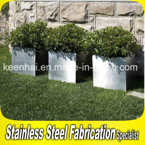 Outdoor Stainless Steel Flower Pot Square Flower Pot Stand pictures & photos