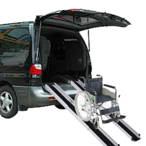 Telescopic Single Fold Down Wheelchair Ramp for Disabled pictures & photos