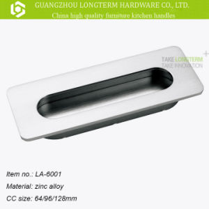 Hot Sales Rectangular Zinc Alloy Recessed Kitchen Cabinet Handle Pull pictures & photos