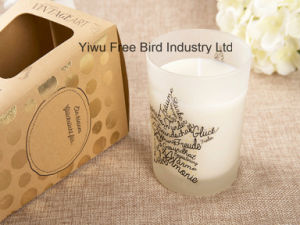 Long Burning Time Scented Soy Massage Oil Candle with Special Design pictures & photos