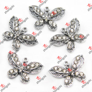 Rhinestone Butterfly Pendant Charms Fashion Jewelry Accessories Wholesale (MPE501)
