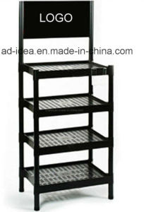 4 Layers Floor-Type Metal Display Stand/ Display Rack (MN-83) pictures & photos