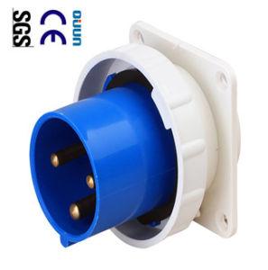 Industrial Plug (QJ-633) of IP67 63A 2p+E Plastic PA PP