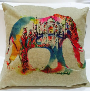 Fashion Elephant Printed Cushion Digital Printed Cushion (LCU-84) pictures & photos