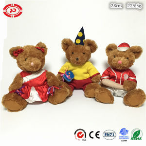 Team Sports Gift Plush Brown Sitting Soft Fluffy Teddy Bear pictures & photos
