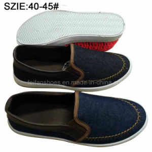 New Style Fashion Men′s Slip on Casual Sheos Denim Shoes (MP16721-12) pictures & photos