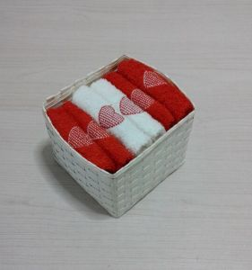 (BC-G1007) Promotional Gift Terry Towel with Storage Basket pictures & photos