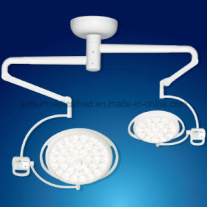 Hospital Ot Shadowless LED Ceiling Mounted Double Head Operation Light pictures & photos