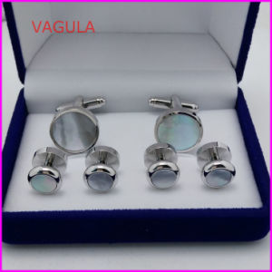 VAGULA Super Quality Pearl Cufflinks Collar Studs Button Hl161282 pictures & photos