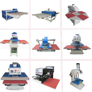 CE Certificate Heat Transfer Printing Machine 40*40cm Pneumatic Double Station Heat Press Machine Automatic Double Position T Shirt Sublimation Machine STC-QD05 pictures & photos