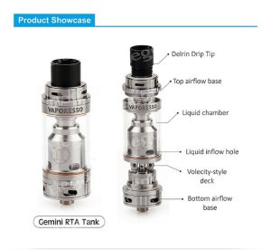 Build Deck with Ss316 Ccell Coil for Vaporesso Gemini Rta Tank pictures & photos