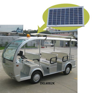 Solar Panel Electric Bus Sightseeing Cart with Rack (8-Seater) pictures & photos