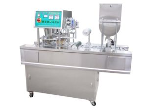 Mechanical Water Cup Filling and Sealing Machine pictures & photos