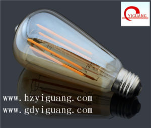 St Pear Shape LED Filament Bulb with Ce RoHS