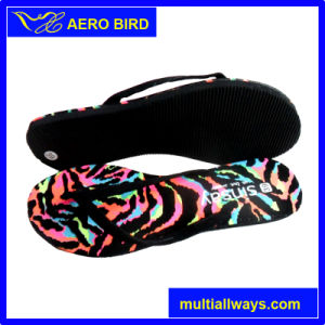2016 New Product Colorful Print Women PE Slipper pictures & photos