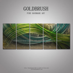 Abstract Color Warp-Green & Blue Panel Metal Wall Art pictures & photos