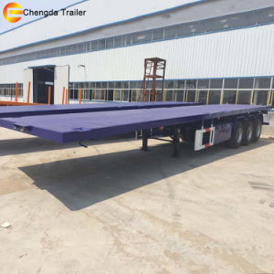 3 Axle 20FT 40FT Flatbed Container Chassis Semi Trailer pictures & photos