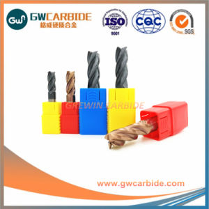 Tungsten Carbide Flat/Ball Nose/ Ball End Mill with 4 Flutes pictures & photos