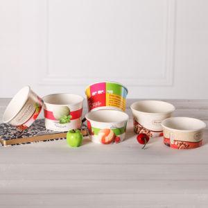 Disposable Printed Paper Frozen Yogurt Bowl pictures & photos